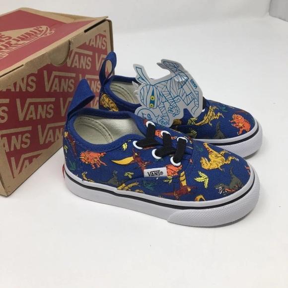 VANS Auth Elastic Lace Dinosaur Shoes Size 5 65c385c39